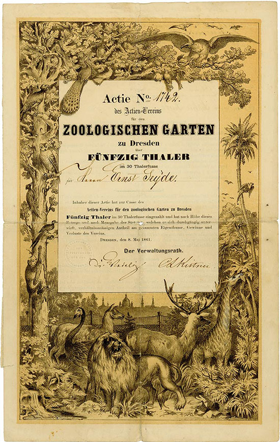 hstm historic stocks market index actien verein f r den zoologischen garten zu dresden. Black Bedroom Furniture Sets. Home Design Ideas